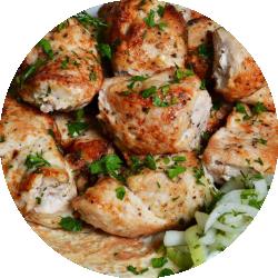 1 кг шашлыка из курицы