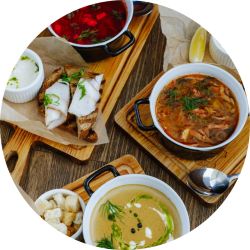 Бизнес-Ланч из 2-х Блюд (салат + суп)