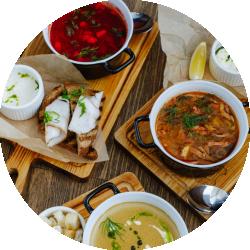 Бизнес-Ланч из 2-х Блюд (горячее + суп)