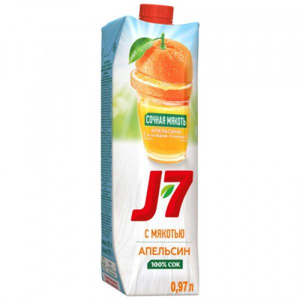 Сок J7 апельсин с мякотью