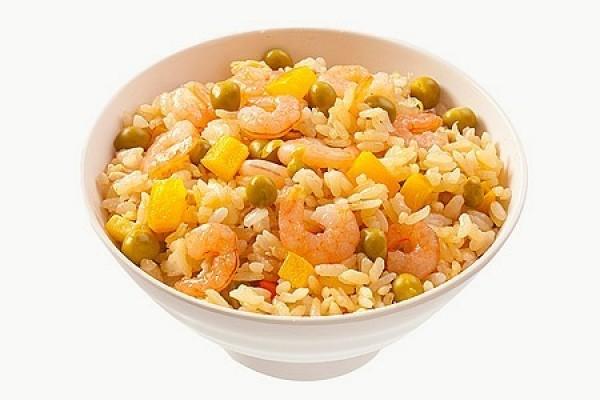 Рис острый с креветками
