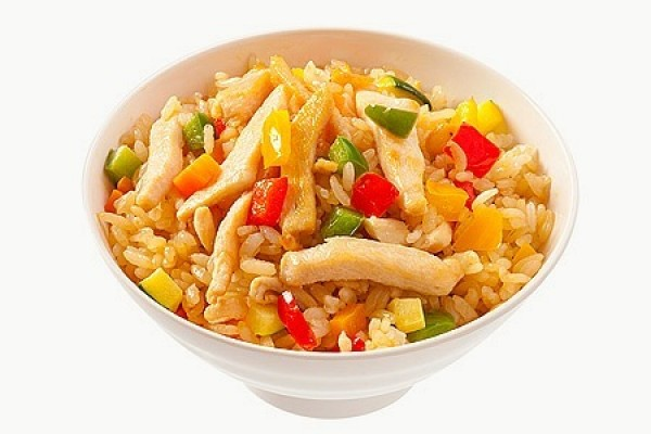 Рис острый с курицей