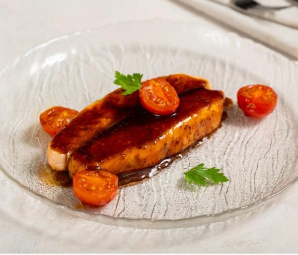 Стейк из лосося с соусом терияки